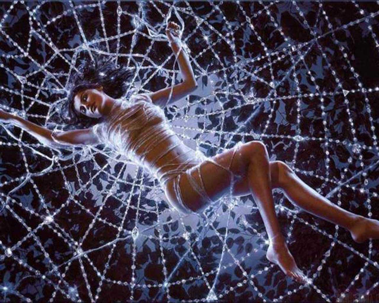 Фото девушка в паутине, Фото: Девушка, которая застряла в паутине Кадр из 5 фотография